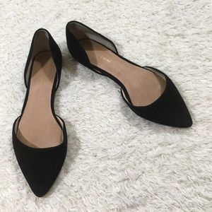 CCO! Maiden Lane d'orsay flats black pointed toe